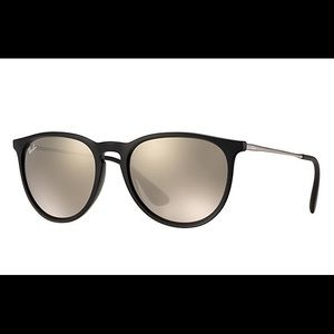 Rayban Erika sunglasses black frame, gold mirror